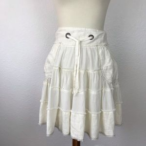 Free People Tiered Drawstring Pockets Skirt SK184